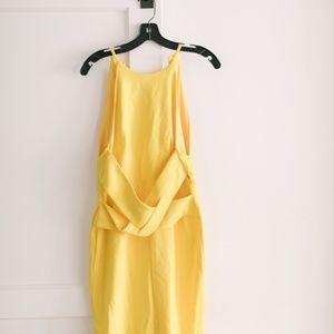 Wrap Front Back Detail Plunge Dress Lavish Alice